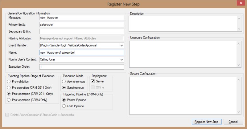3 Ways to Add Configuration Parameters to Plugins in Dynamics CRM – Part 2 of4