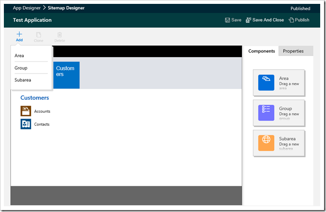 Dynamics 365 Site MapDesigner