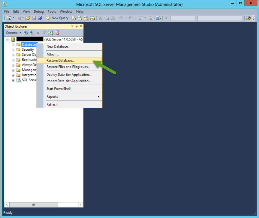 How to import CRM Orgnization Using CRM SQL Server backupfile