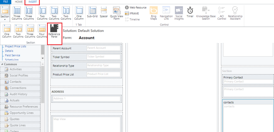 Reference Panel section in dynamics 365 v9 – Danilo