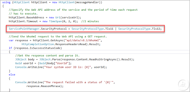 Connect to Dynamics 365 WebApi v9 from Console Application C#