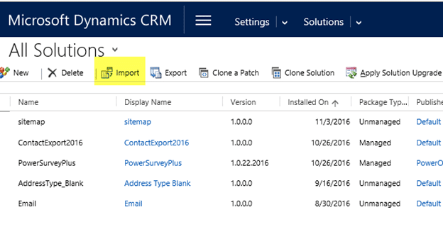 Common Dynamics CRM Troubleshooting Solution ImportErrors