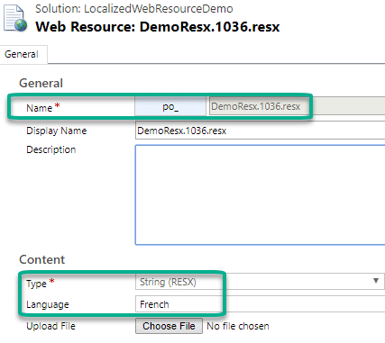 Language Localized Web Resources in Microsoft Dynamics 365