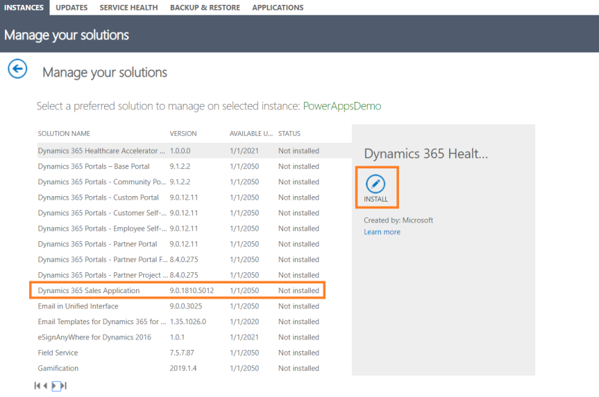 How To configure Dynamics 365 customer engagement apps into existing PowerApps environment