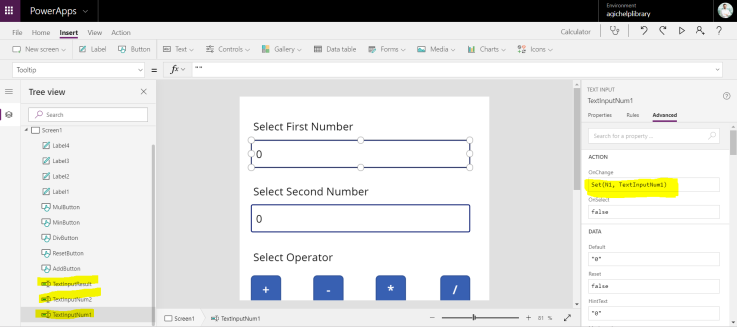 How To create a simple Canvas app calculator in PowerApps